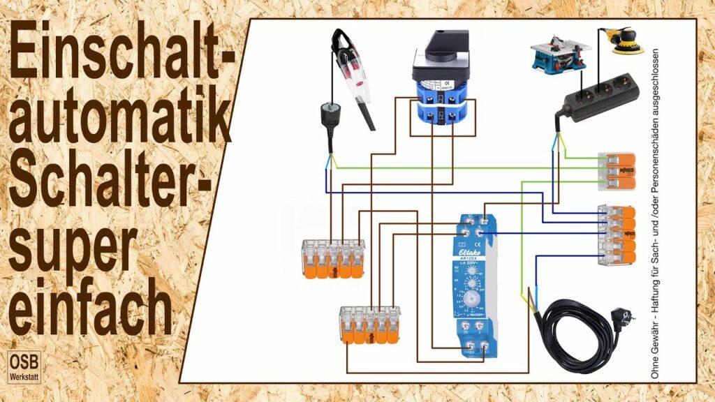 Schaltplan Einschaltautomatik - Eltako AR12DX