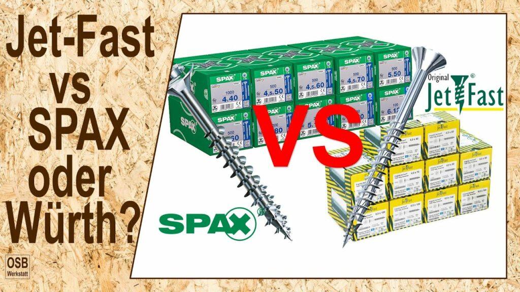 SPAX vs Jet-Fast Schraube